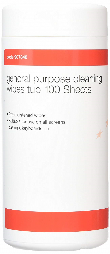 5 Star Cleaning Wipes for PC Screens, Casings & Keyboards - Pack of 100